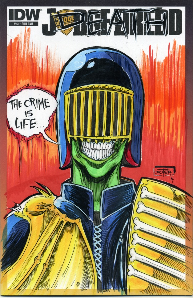 Judge Death on Judge Dredd Sketch cover.