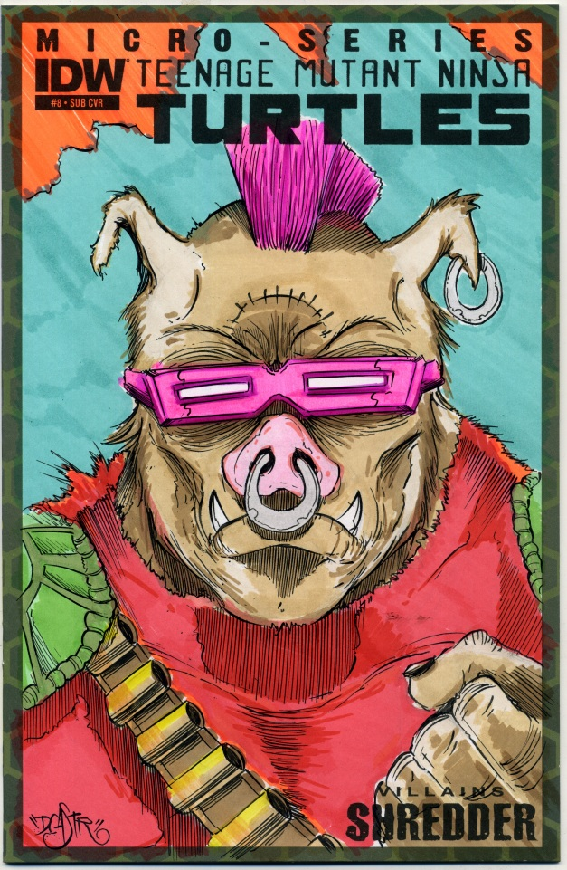 Bebop on TMNT Sketch cover
