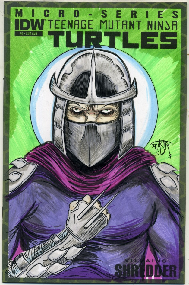 The Shredder on TMNT sketch cover.