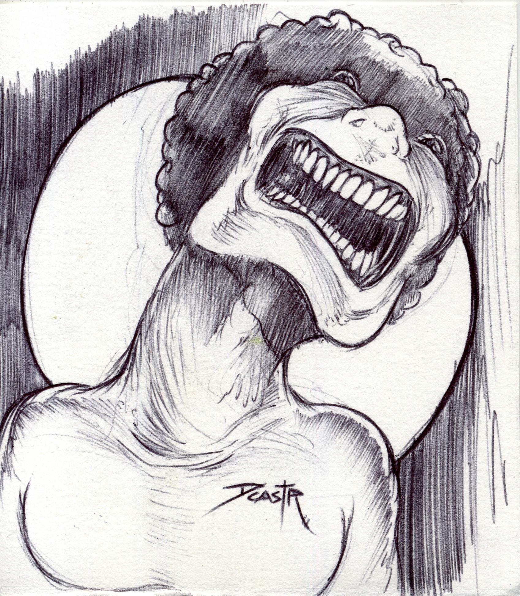 A screaming weirdo