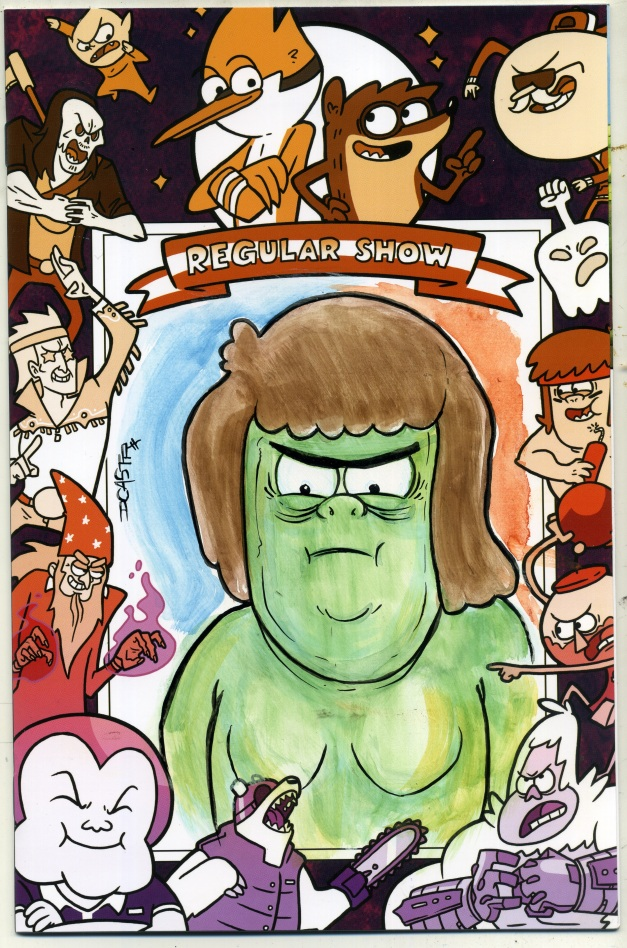 Muscle Man on Regular Show #1 blank sketch cover