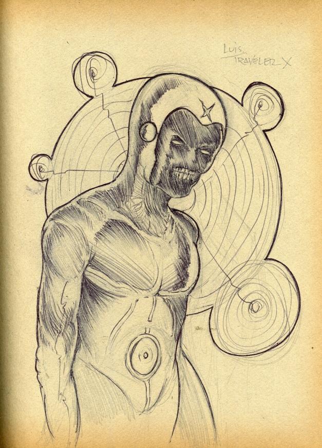 Faceless Luis. The traveler X