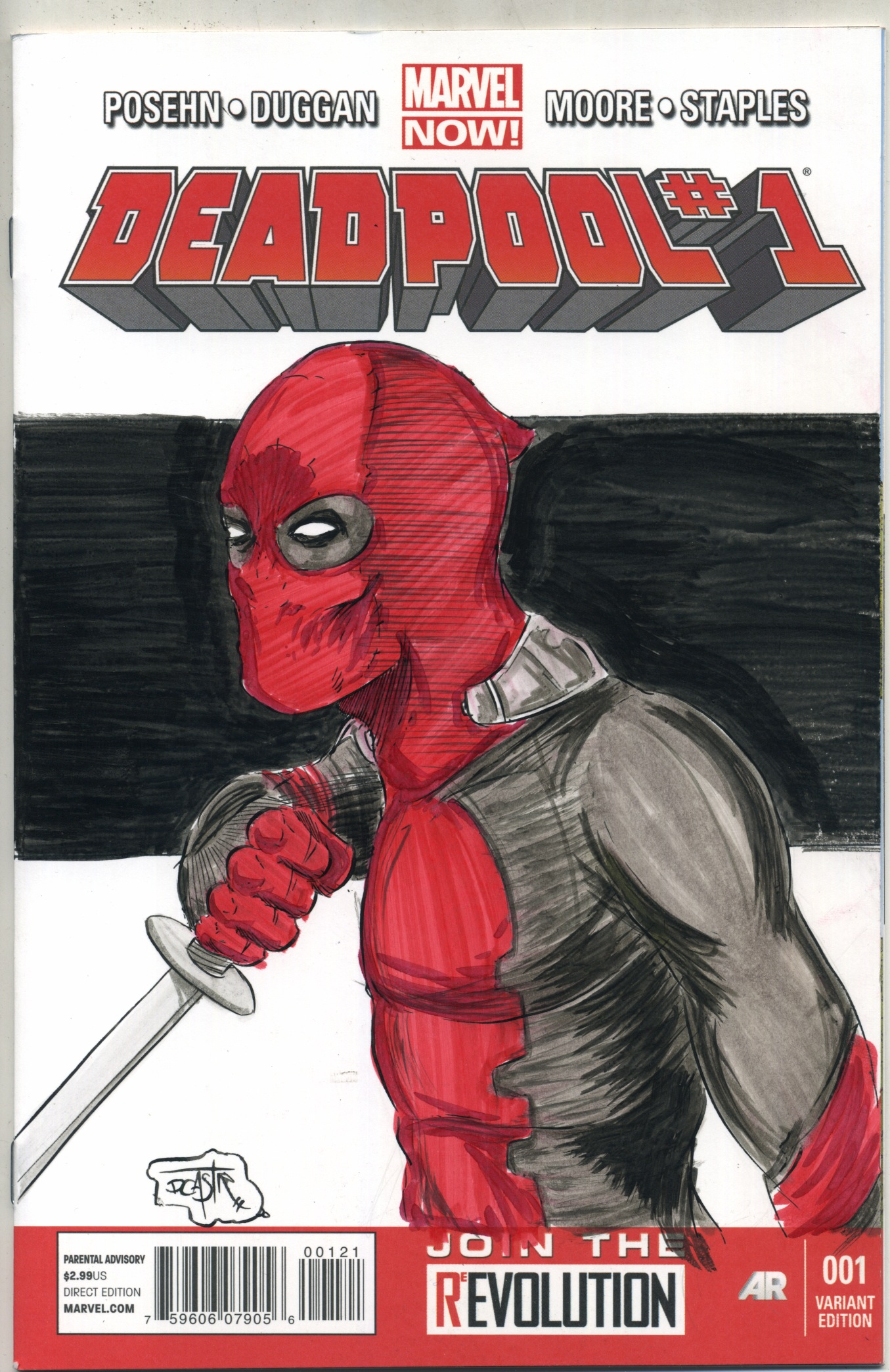 Deadpool #1 sketch cover