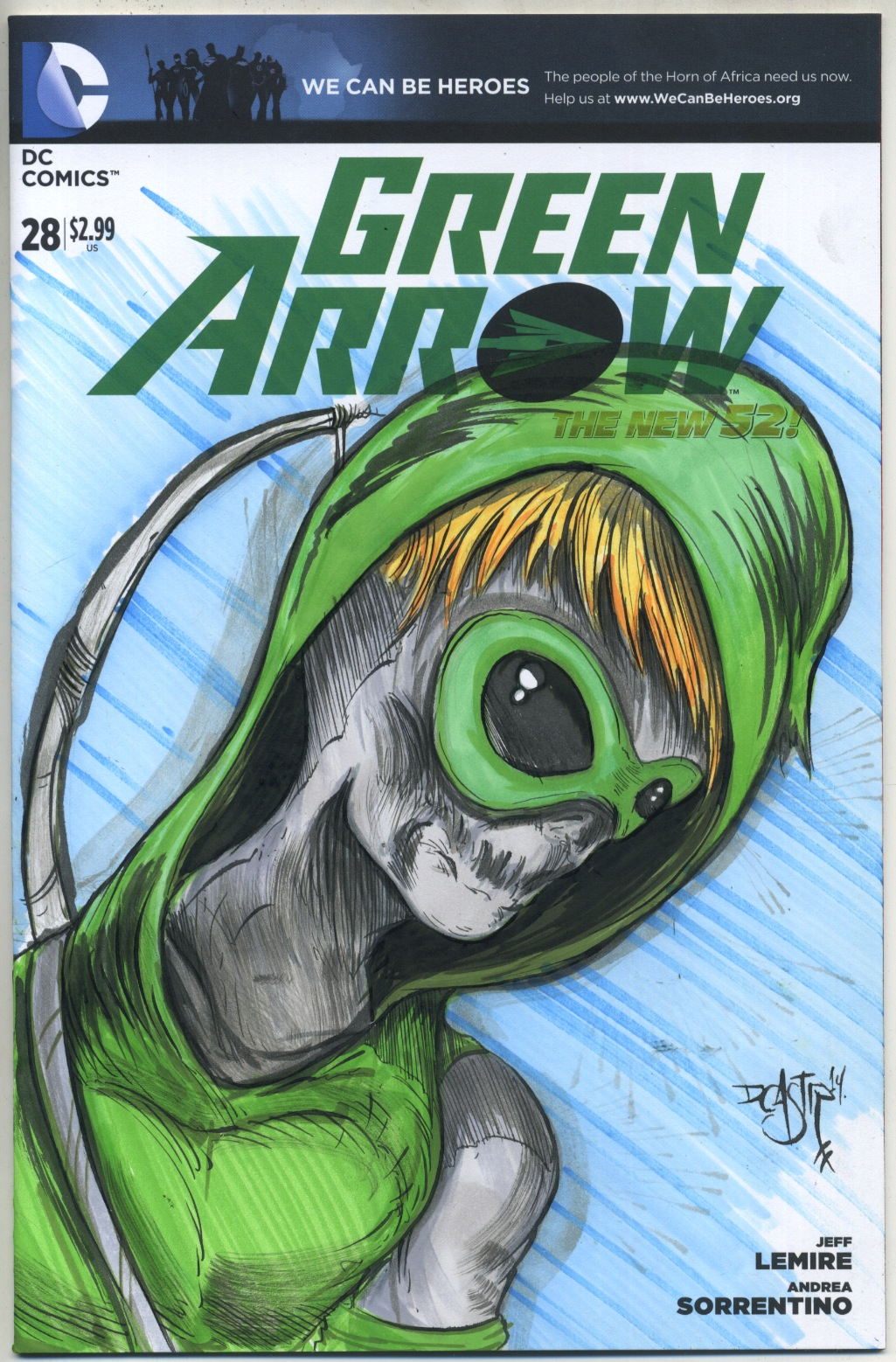 Green Arrow sketch cover