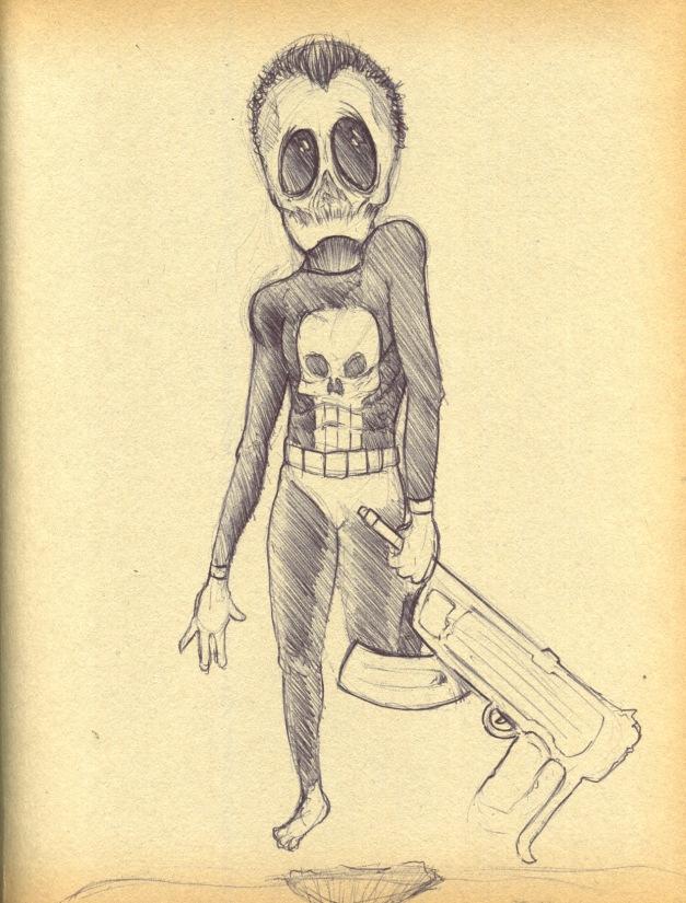 Grey Alien Punisher