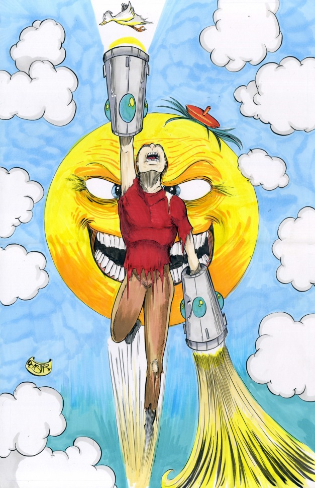 Reggie and a Sun Genie