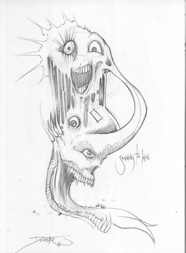 White Vegas noise drawing