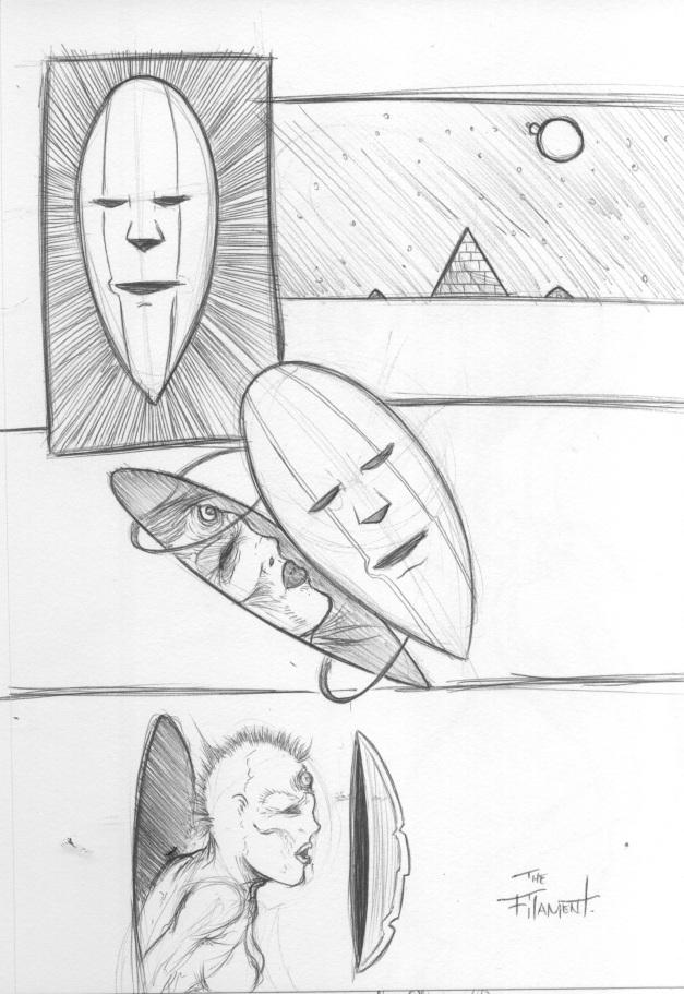 A strange thought I drew.