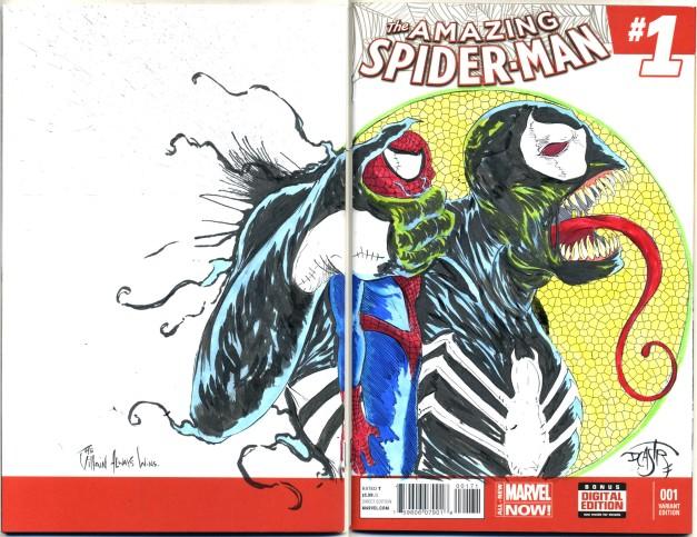 Amazing Venom pezzing Spiderman