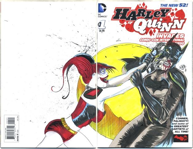 Harley Quinn fan ravaging a Batman Cosplayer.