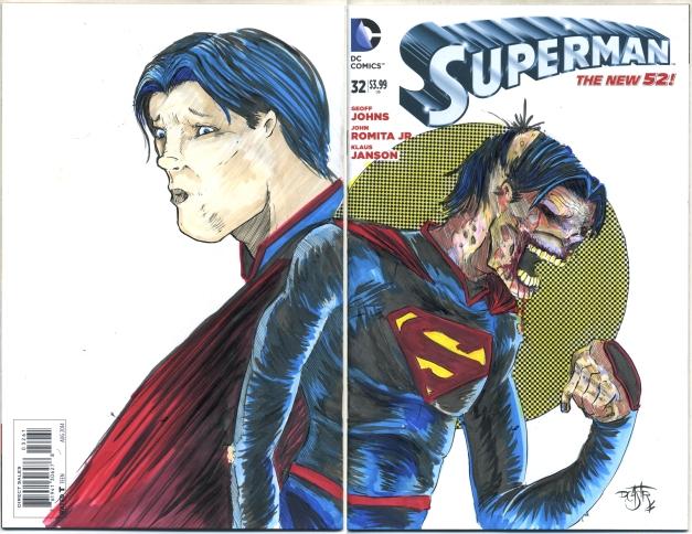Zombie Superman. Complete with repo film half tones.