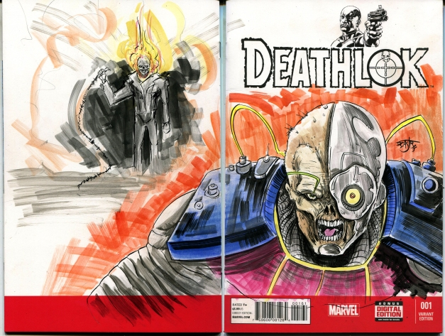 Deathlok and Ghostrider
