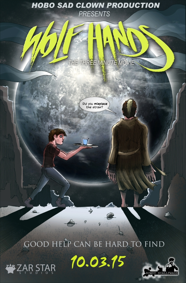 Wolf Hands Poster