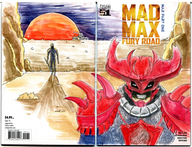 Mad Max and a Villain in the comic