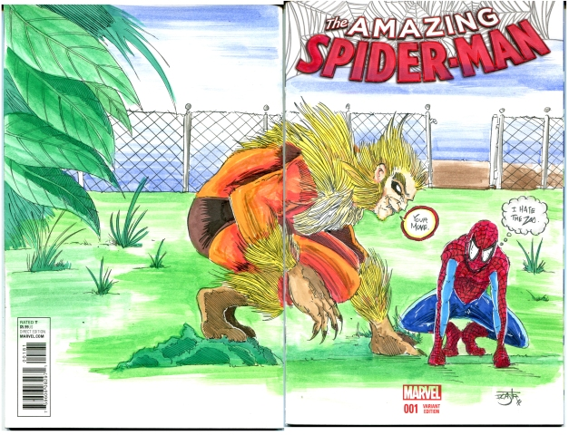 Spider Man and Sabertooth